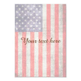 Falln Antique American Flag Card