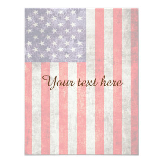 Falln Antique American Flag Card