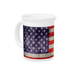 Falln Antique American Flag Drink Pitcher