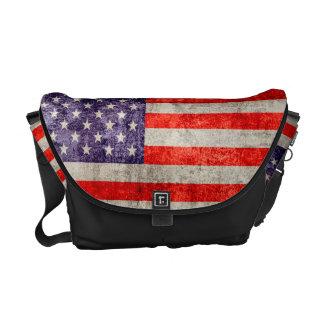 Falln Antique American Flag Messenger Bag