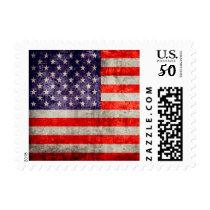 Falln Antique American Flag Postage