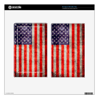 Falln Antique American Flag Skins For Kindle Fire