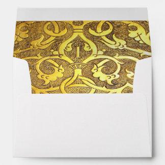 Falln Antique Golden Swirls Envelope