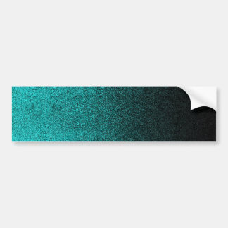 Falln Aqua & Black Glitter Gradient Bumper Sticker
