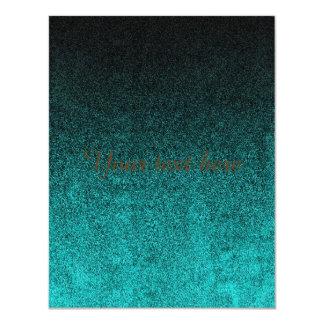 Falln Aqua & Black Glitter Gradient Card