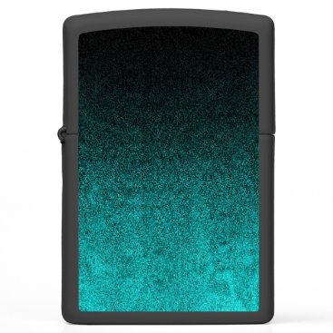 Halloween Themed Falln Aqua & Black Glitter Gradient Zippo Lighter