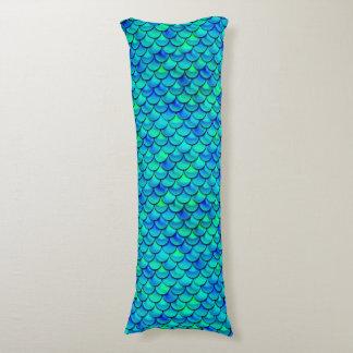 Falln Aqua Blue Scales Body Pillow