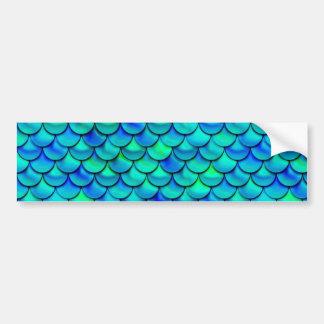 Falln Aqua Blue Scales Bumper Sticker