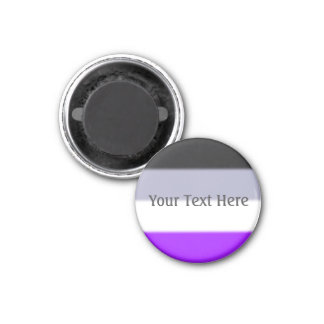 Falln Asexual Pride Flag 1 Inch Round Magnet