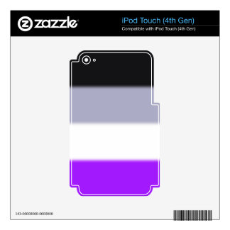 Falln Asexual Pride Flag Skin For iPod Touch 4G