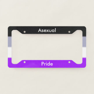 Falln Asexual Pride License Plate Frame