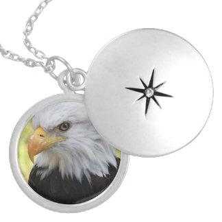 Falln Bald Eagle Liberty Locket Necklace