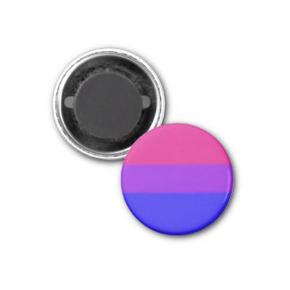 Falln Bisexual Pride Flag 1 Inch Round Magnet