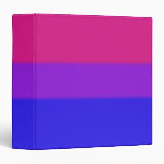 Falln Bisexual Pride Flag 3 Ring Binder