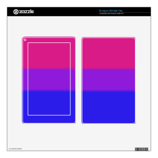 Falln Bisexual Pride Flag Decal For Kindle Fire