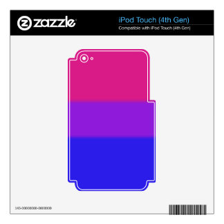 Falln Bisexual Pride Flag Decals For iPod Touch 4G