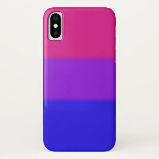 Falln Bisexual Pride Flag iPhone X Case