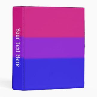 Falln Bisexual Pride Flag Mini Binder
