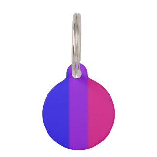 Falln Bisexual Pride Flag Pet ID Tag