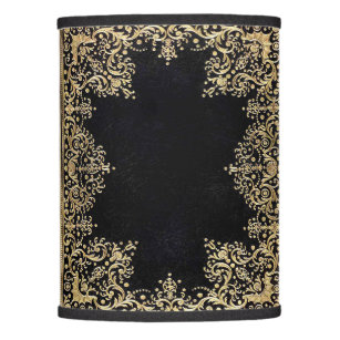 Falln Black And Gold Filigree Lamp Shade