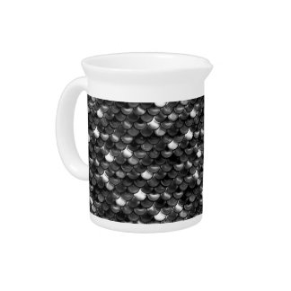 Falln Black and White Scales Beverage Pitcher
