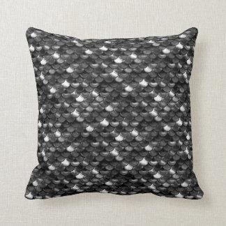 Falln Black and White Scales Throw Pillow