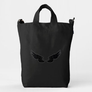 Falln Black Angel Wings Duck Bag