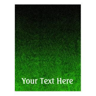 Falln Black & Green Glitter Gradient Postcard