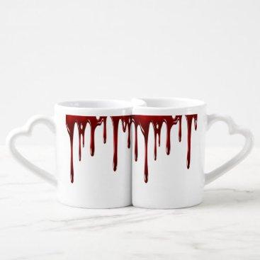 Falln Blood Drips White Coffee Mug Set