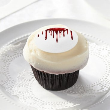 Falln Blood Drips White Edible Frosting Rounds