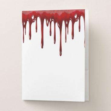 Falln Blood Drips White Pocket Folder