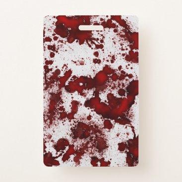 Halloween Themed Falln Blood Splatter Badge