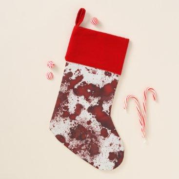 Halloween Themed Falln Blood Splatter Christmas Stocking