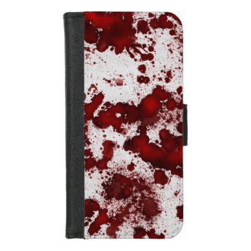 Halloween Themed Falln Blood Splatter iPhone 8/7 Wallet Case