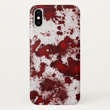 Halloween Themed Falln Blood Splatter iPhone X Case
