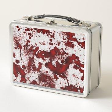 Halloween Themed Falln Blood Splatter Metal Lunch Box