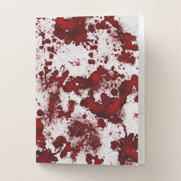 Halloween Themed Falln Blood Splatter Pocket Folder