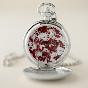 Halloween Themed Falln Blood Splatter Pocket Watch