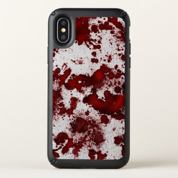 Halloween Themed Falln Blood Splatter Speck iPhone X Case