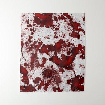 Halloween Themed Falln Blood Splatter Tapestry