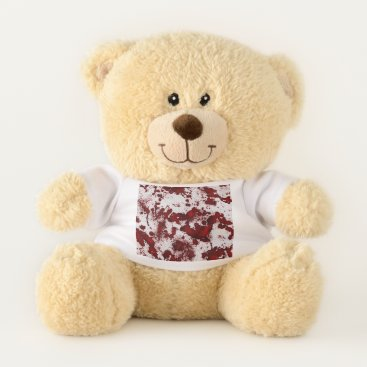 Halloween Themed Falln Blood Splatter Teddy Bear