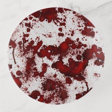 Halloween Themed Falln Blood Splatter Trinket Trays