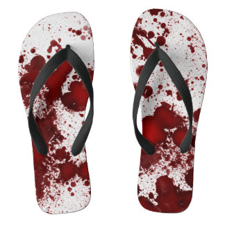 Falln Blood Stains Flip Flops