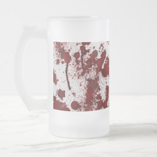 Falln Blood Stains Frosted Glass Beer Mug