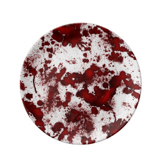 Falln Blood Stains Porcelain Plate