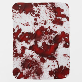 Falln Blood Stains Receiving Blanket