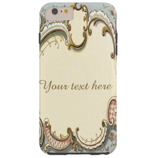 Falln Blue and Gold Victorian Frame Tough iPhone 6 Plus Case