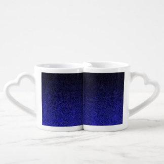 Falln Blue & Black Glitter Gradient Coffee Mug Set