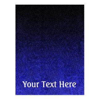 Falln Blue & Black Glitter Gradient Postcard
