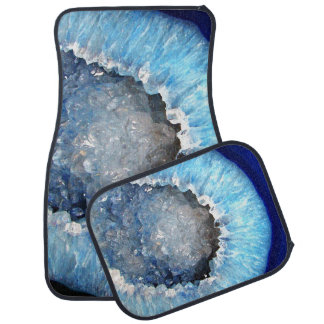 Falln Blue Crystal Geode Car Mat
